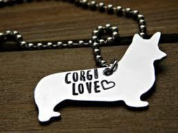 pet memorial necklace corgi necklace dog pet memorial jewelry custom sted gift animal lov