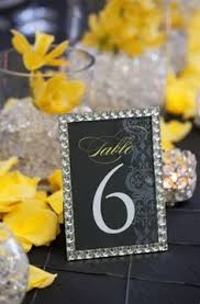 silver frames for wedding table numbers glam silver frames drew attention to the table numbers which each