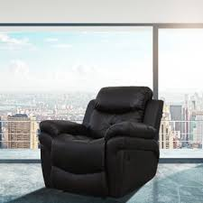mcombo brown massage recliner vibrating sofa heated leather free
