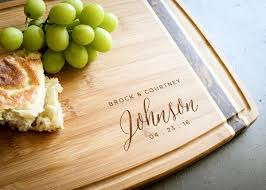 personalized bamboo inlay cutting board by engravemethis