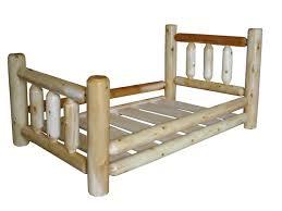 Wooden Log Beds Original Cedar Log Toddler Bed Traditional Toddler Bed And Beds