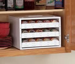 new kitchen storage stack organizer spice bottle rack cabinet