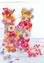 Monogram Letters Home Decor Diy Flower Monogram Letter Thistlewood Farm