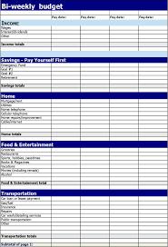 bi weekly budget template download free u0026 premium