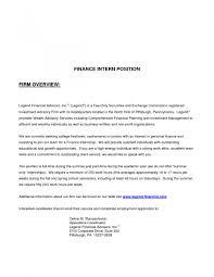 cover letter for finance internship position letter idea 2018