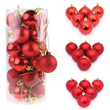 24pcs christmas tree balls decorations baubles wedding xmas party