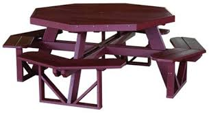 Poly Picnic Tables by Octagonal Picnic Table Vinyl Picnic Table Amish Furniture Factory
