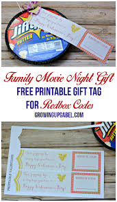 give a family with printable gift tags for redbox