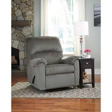 exquisite zig zag pattern fabric upholstered swivel recliner chair