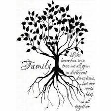silhouette family tree ideas