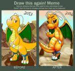 Dragonite Meme - draw this again ss dragonite 2013 vs 2016 by waver92 on deviantart
