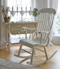 Modern Wooden Rocking Chair White Rocking Chair For Outdoor And Indoor Of Modern Mansion Chair