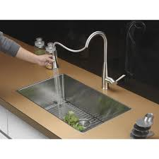 rv kitchen faucet ruvati rvf1228k1ch pullout spray kitchen faucet with soap