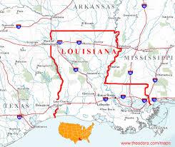 louisiana geographical map louisiana maps