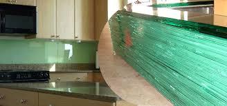 Glass Backsplashes Images - Painted glass backsplash