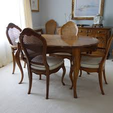 Dining Table And Six Chairs Drexel Provincial Style Dining Table And Six Chairs Ebth