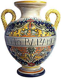 Italian Vase Deruta Italian Urn Vase
