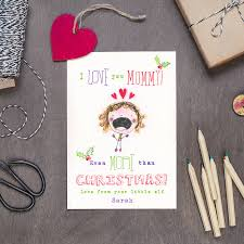 personalised mummy colouring christmas card cloth