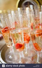 glasses flutes of champagne or sparkling white wine with