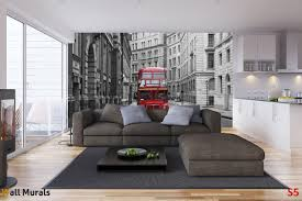 mural red bus in the streets in london wallpapers mural red bus in the streets in london