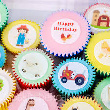 farm cake toppers farm animal cupcake toppers farm cake toppers 4cm x 24 wafer