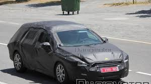 peugeot wagon peugeot 508 spied in station wagon form