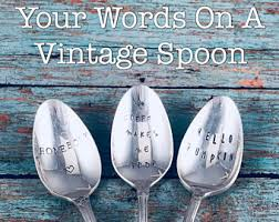 personalized spoons personalized spoon etsy