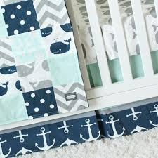 Whale Crib Bedding Whale Crib Bedding Navy And Mint Nautical Baby Bedding Navy