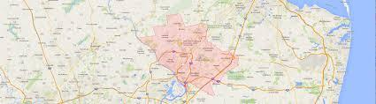 Bucks County Map Hvac Service Areas In Bucks County