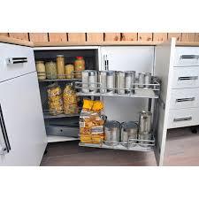 amenagement interieur placard cuisine rangement d angle 4 paniers tirant droit pour meuble d angle bas