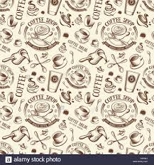 coffee shop background design isolated brown color cup in retro style background coffee shop