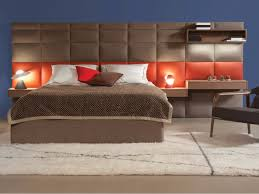 Double Bed Designs Catalogue Fabric Double Bed With High Headboard Courchevel By Roche Bobois