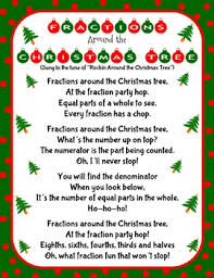 christmas holiday fractions around the christmas tree song and