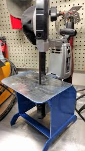 diy harbor freight portable band saw stand garage pinterest