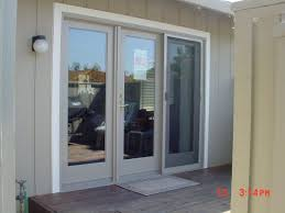 stylish 3 door patio doors home exterior doors wood aluminum clad
