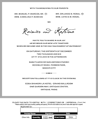 civil wedding invitation wording philippines popular wedding