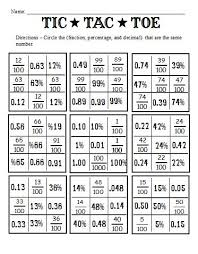 Worksheet On Converting Decimals To Fractions Fractions Decimals And Percents And Worksheets To Go With The