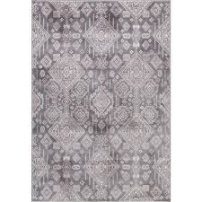 Concord Global Area Rugs Concord Global Trading Lara Santa Fe Gray 6 Ft 7 In X 9 Ft 3 In