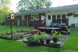 Landscaping Ideas For Front Of House by Home Decor Remarkable Backyard Deck Ideas Images Design Ideas