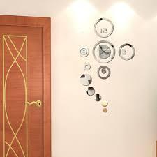1pc modern 3d home decoration wall clock modern design stickers