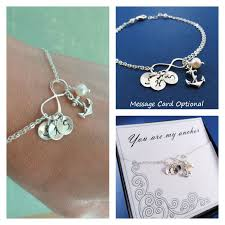 silver infinity bracelet with charms images Otis b jewelry anchor charm infinity bracelet jpeg
