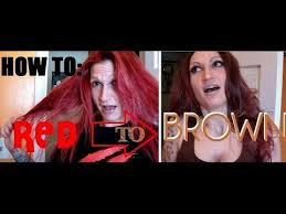 dying red hair light brown going from red to brown hair damage free youtube