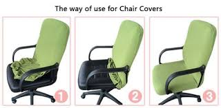 computer chair cover chair covers simplism style cotton office stretchable rotating