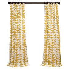 Linden Street Curtain Rods Langley Street Katelyn Printed Cotton Twill Geometric Rod Pocket