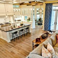 open kitchen living room floor plans open concept living room kitchen white wooden open kitchen