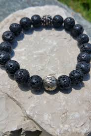 silver energy bracelet images Rebirth bracelet lava rock stone beads sterling silver bead jpg
