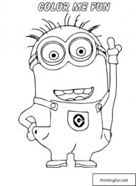 color despicable coloring pages free printable
