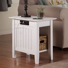 atlantic furniture houlton chair side table with charging station