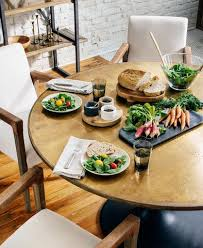 Dining Table With Food Dining Tables Mintwood Home