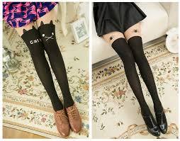 cute stockings japanese fashion harajuku cute bow cat tight leggings stocking